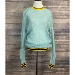 Hunter Original Light Blue Crochet Sweater